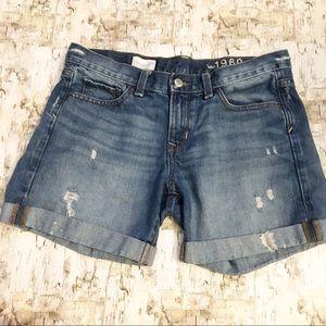 Gap Sexy Boyfriend High Waisted Jean Shorts Sz 26